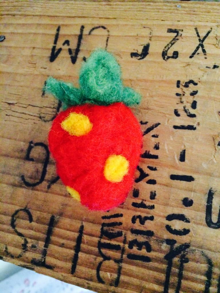 Filz Erdbeere_Selber machen_Hand im Glück