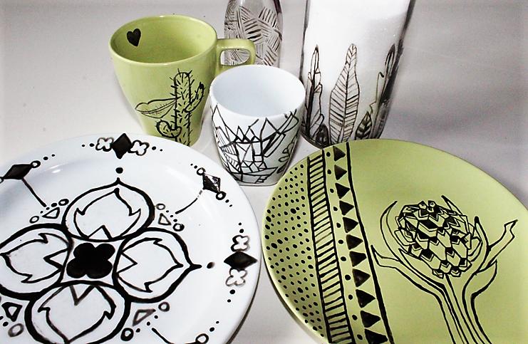 Hand-im-Glück-DIY-Keramik-Malerei