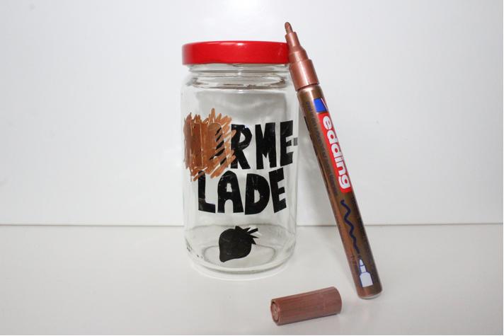 hand-im-glueck.de Hand im Glück DIY Upcycling Marmeladenglas mit Lack bemalen