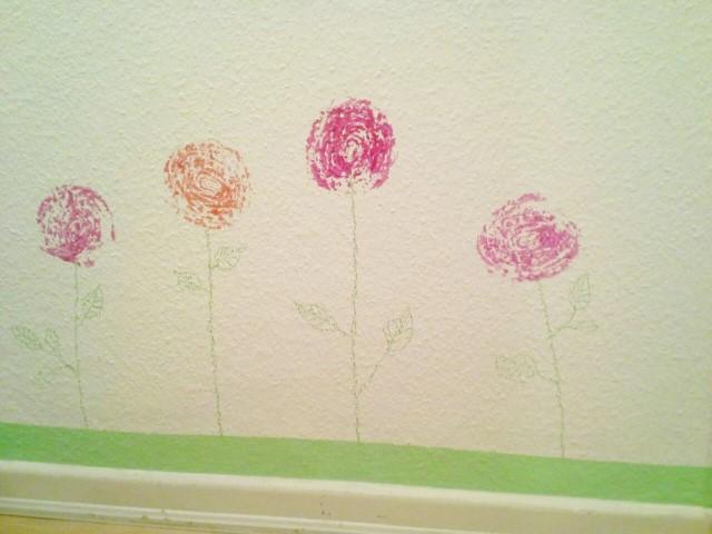 Wandbemalung mit Rosen (Small)