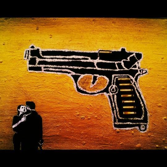 3D Bild selbermachen Motiv Pistole HandimGlück
