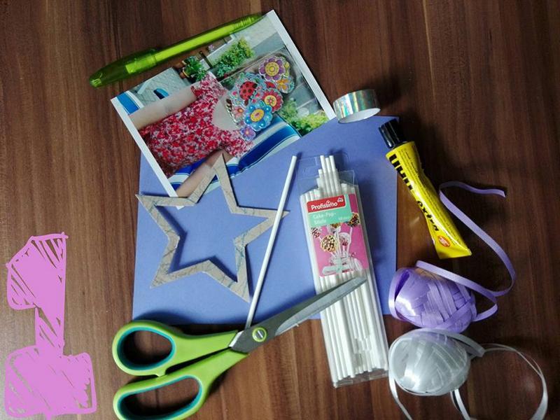Geburtstag_Einladungskarten_Sternstab_für_Mädchen_Schritt_für_Schritt_Anleitung_Materialien_Hand_im_Glueck