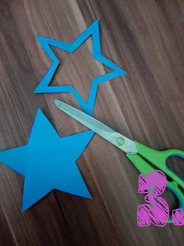 Geburtstag_Einladungskarten_Sternstab_für_Mädchen_Schritt_für_Schritt_Anleitung_Sterne_auf_Papier_zeichnen_und_ausschneiden_Hand_im_Glueck