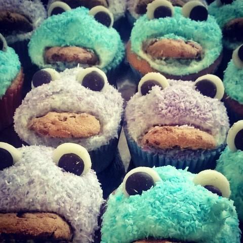 Krümelmonster Cupcakes backen Kindergeburtstag (Small)