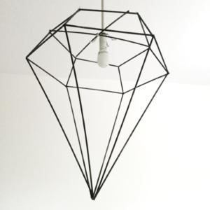 ampenschirm Diamant Upcycling aus Strohhalmen