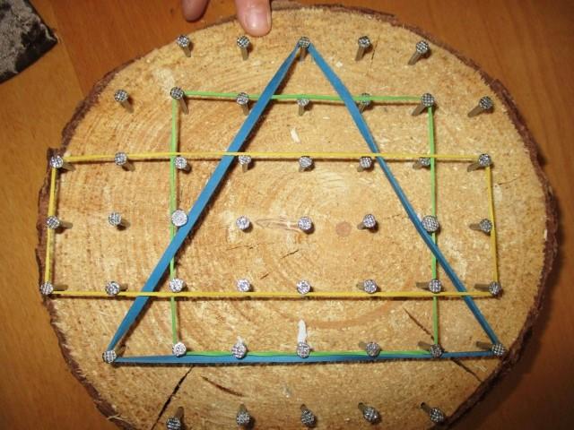 DIY Geobrett geometrische Formen