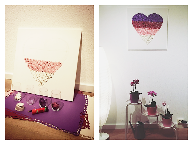 DIY Herz aus Schmetterlingen