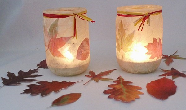 DIY Teelichter Herbst