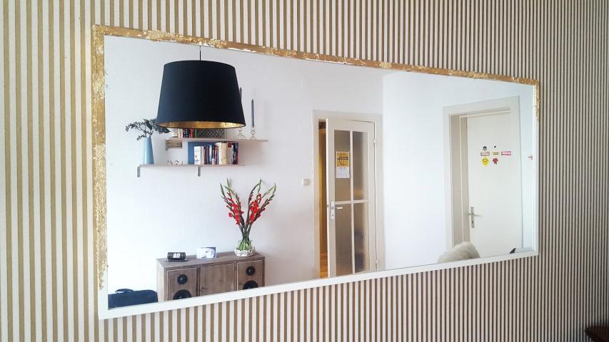 IKEA Hack Spiegel STAVE mit Blattgold (3) (Small)