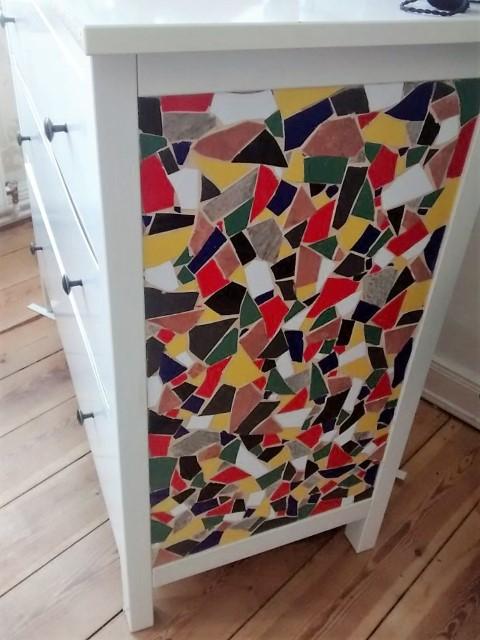 Ikea Hack Kommode mit Mosaik