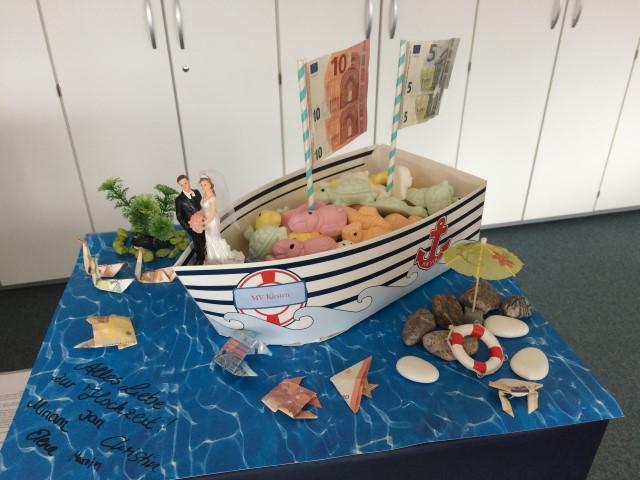 Maritimes Geldgeschenk DIY Hand im Glück