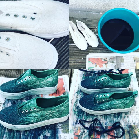 Ombre Shoes DIY selbermac