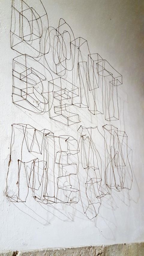 3D Buchstaben aus Draht als Wandgestaltung (3) (Small)