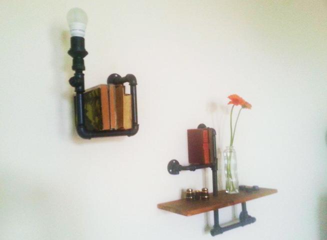 b cherlampe aus rohren hand im gl ck mein do it yourself portal. Black Bedroom Furniture Sets. Home Design Ideas