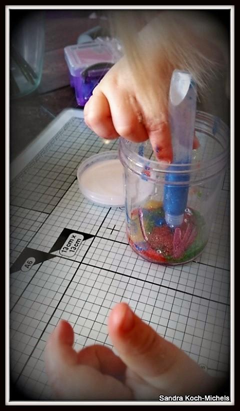 DIY Glitterglas