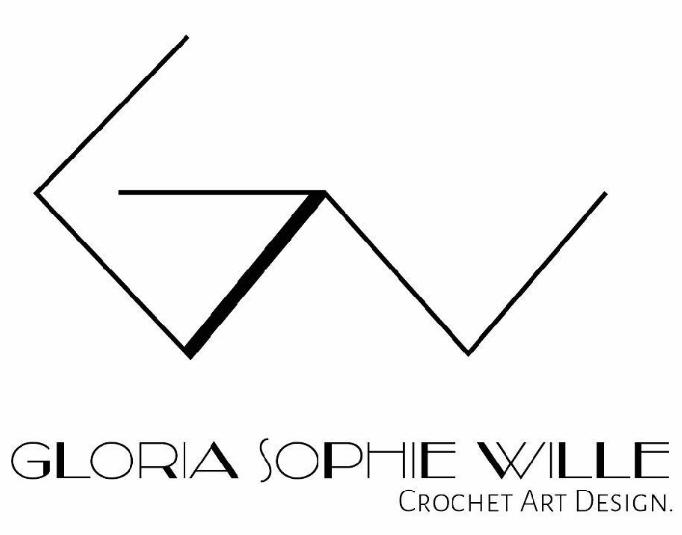 Gloria Sophie Wille Logo Crochet Art Design Hand im Glück