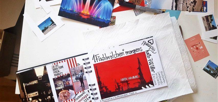 Gutscheinbuch Einmal durch Hamburg Fischmarktseite Hand im Glück
