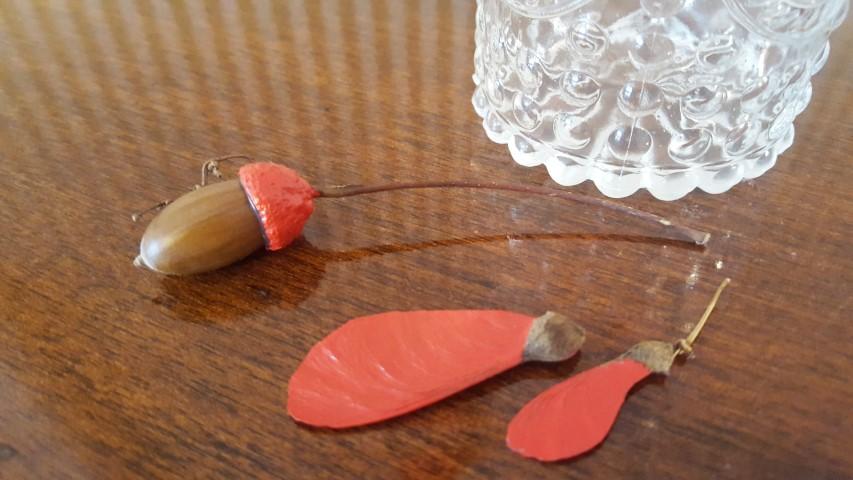 Hochblatt-Strauß vond er Linde anmalen als Herbstdeko