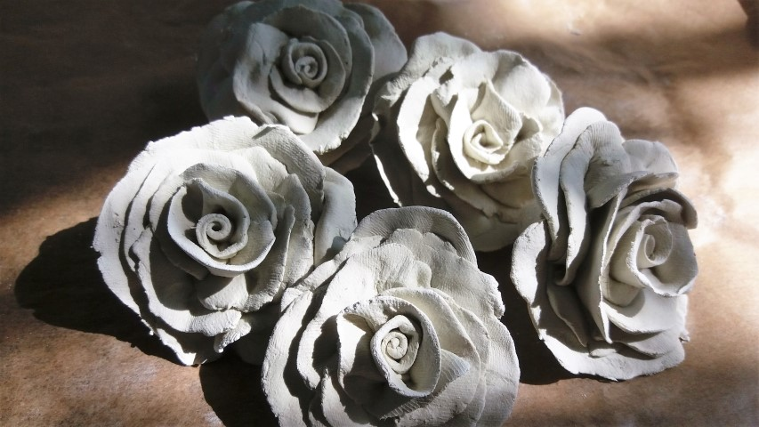 Rosen aus Ton selber machen (2)