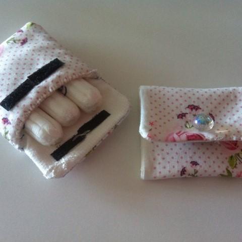 Tampontäschchen Nadel und Faden DIY Hand im Glück