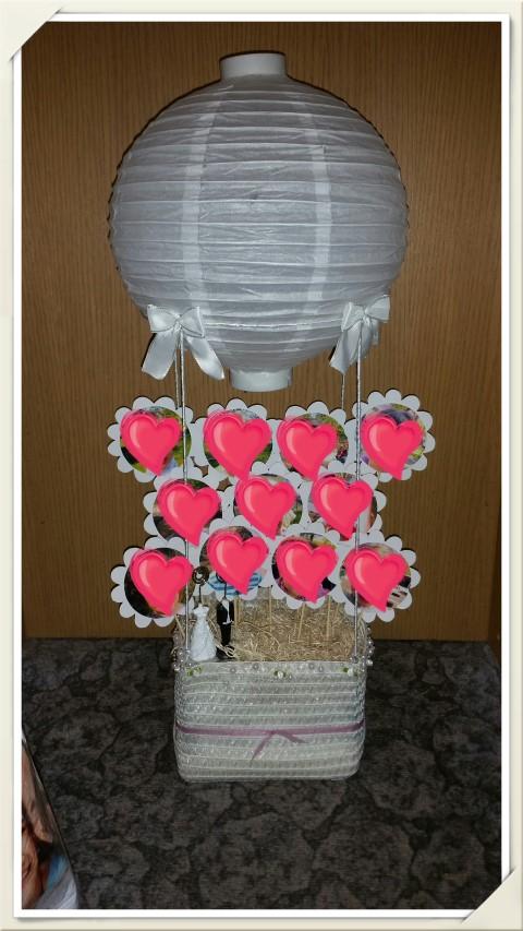 Heißluftballon Hochzeitsgeschenk Hand im Glück