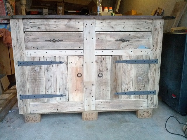 waschbescken unterschrank aus paletten upcycling hand. Black Bedroom Furniture Sets. Home Design Ideas
