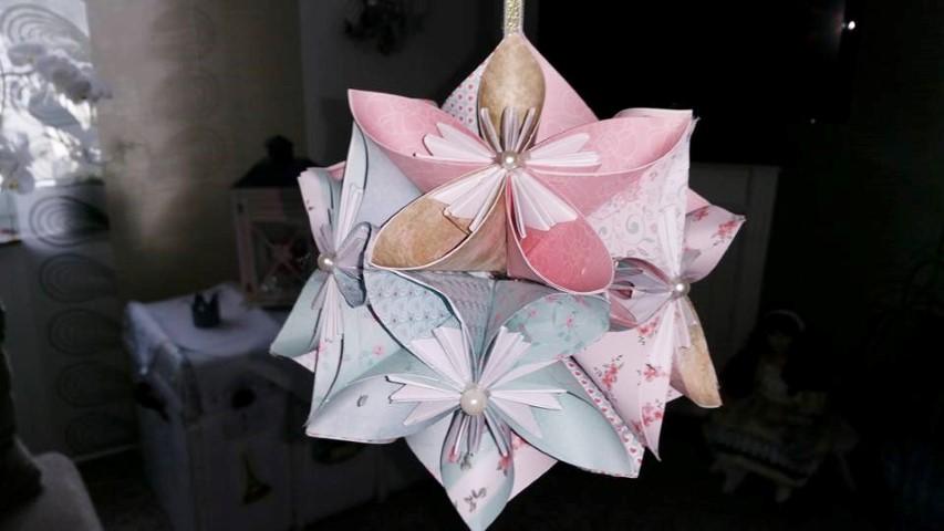 Origami Blume selber machen