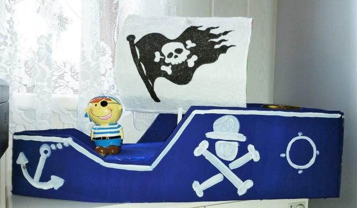 Piratenschiff selbstgemacht Hand im Glück