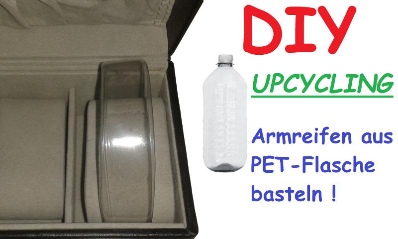 Upcycling Arnreifen aus PET-Flasche Hand im Glück