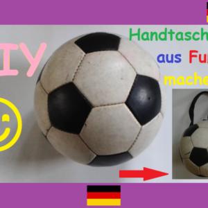 Diy Handtasche Aus Fussball Selber Machen Fan Outfit