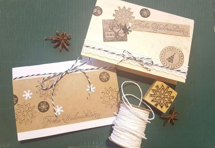 weihnachtskarten aus papier hand im gl ck mein do it. Black Bedroom Furniture Sets. Home Design Ideas