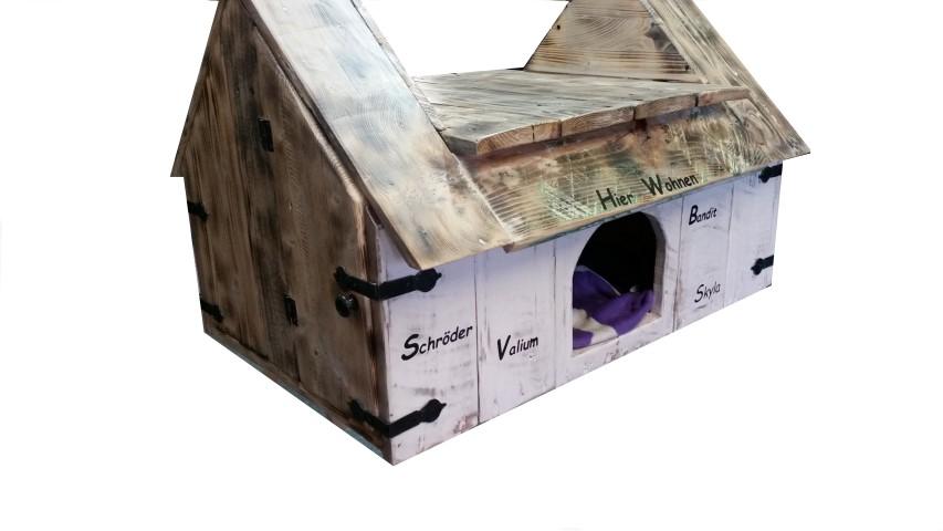 bauen wir mal etwas f r unsere lieblinge hundeh tte aus holz hand im gl ck mein do it. Black Bedroom Furniture Sets. Home Design Ideas