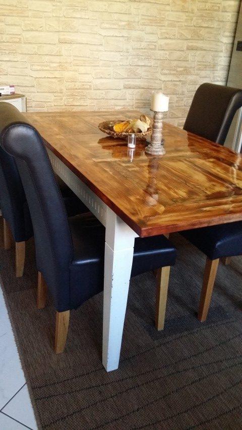 Tischplatte selbstgemacht aus Restholz _Hand_im_Glück