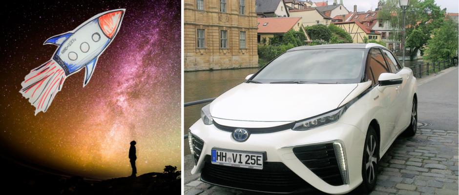 Titelbild Crowdfunding Wasserstoff Auto