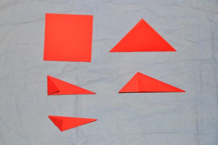 3D Stern aus Papier falten (3)