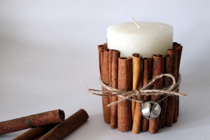 Kerze mit Zimtstangen als Weihnachtsgeschenk basteln (Small)