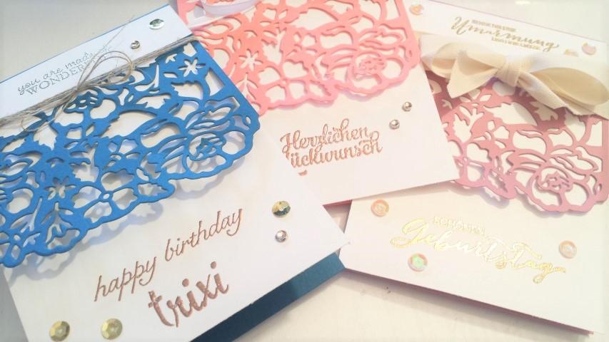 Geburtstagskarten Florale Fantasie Stampin ´up Hand im Glück