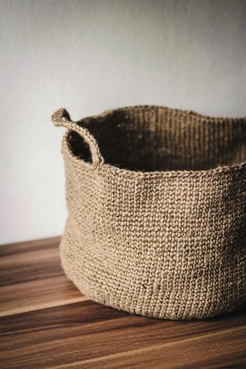 korb aus paketschnur h keln hand im gl ck mein do it yourself portal. Black Bedroom Furniture Sets. Home Design Ideas