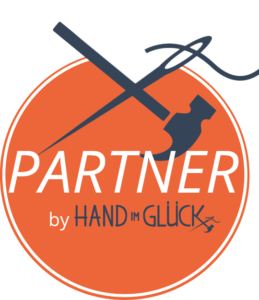 Partner Button Orange mittel