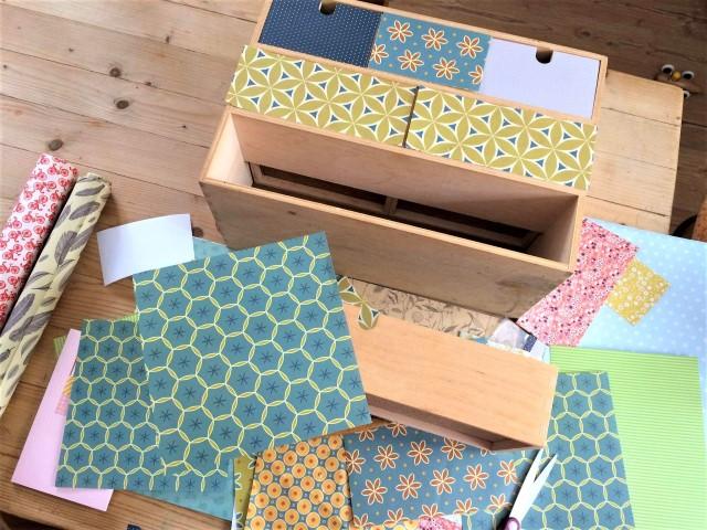 IKEA Moppe Minikommode mit Papier bekleben - Upcycling