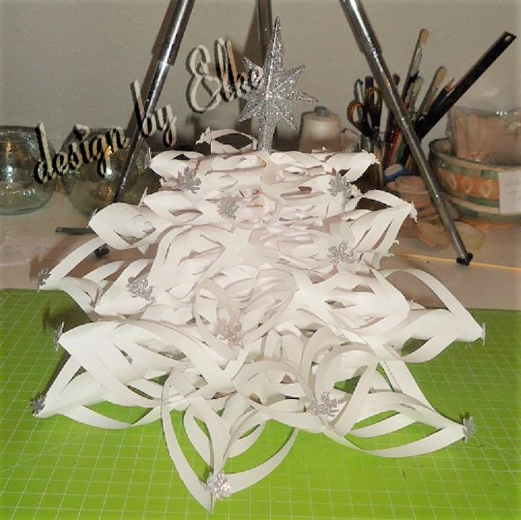 luftiger Tannenbaum aus Papier basteln_Hand im Glück