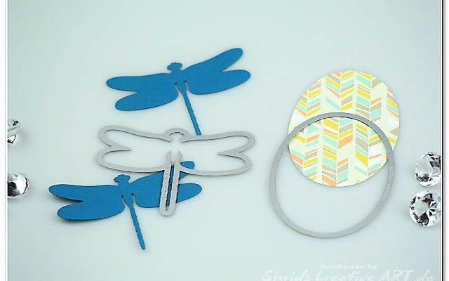 3D Libellen aus Papier Stampin Up Hand im Glück (