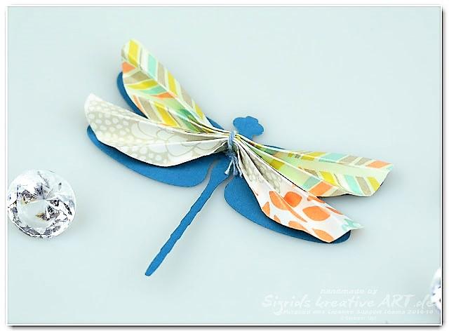 3D Libellen aus Papier Stampin Up Hand im Glück (2)