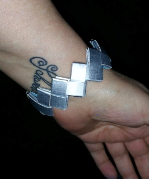 Armband aus Tetra Pak selber machen