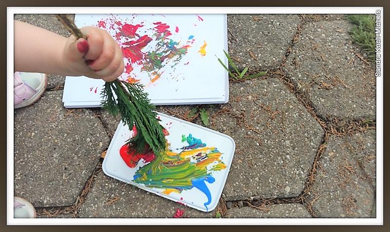 Basteln mit Kindern Hand im Glück