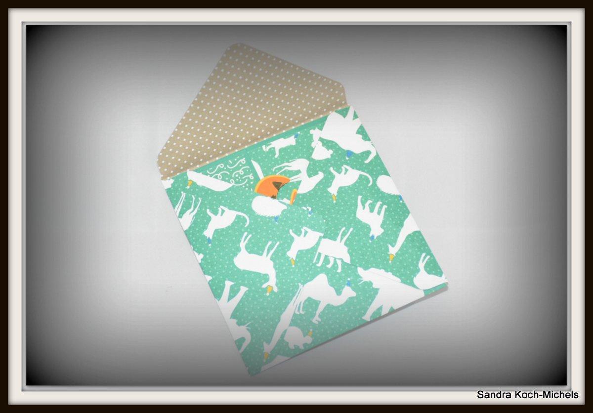 Umschlag basteln für quadratische Karten