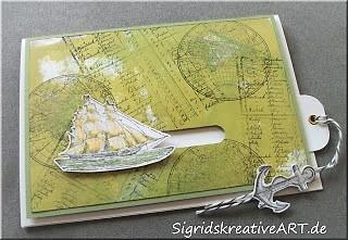 Geburtstagskarte mit beweglichen Element Hand im Glück Stampin up