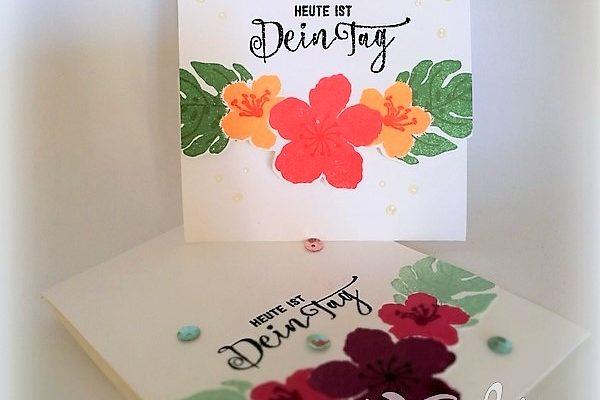 Klappkarte-mit-Blumenborte-aus-Papier-Hand-im-Glück