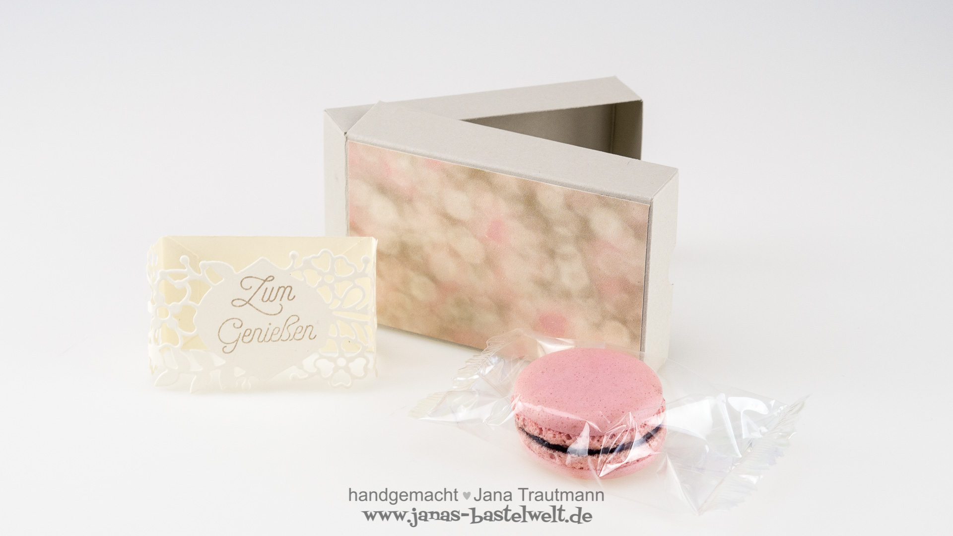 Macarons_Verpackung mit Banderole selber basteln