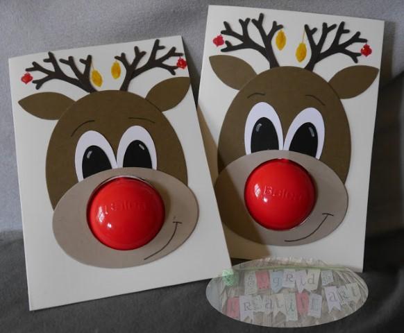 Rudolph karte selber basteln stampin up(4)